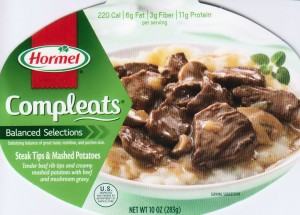 Hormel Compleats Balanced Selections Steak Tips and Mashed Potatoes
