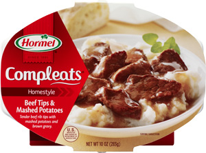 Hormel Compleats Homestyle - Beef Tips & Mashed Potatoes