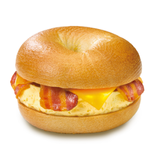 Einstein Bros Bacon & Cheddar Egg Bagel