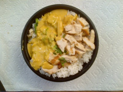 Tokyo Joe's Large Chicken Bowl with Yellow Curry
