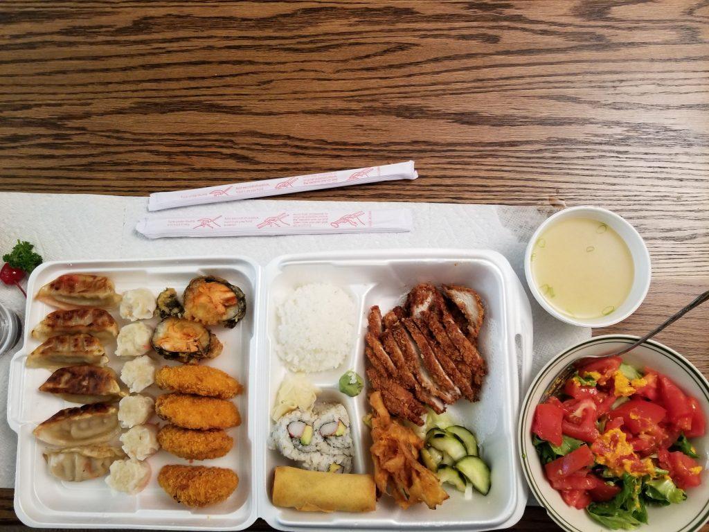 Japanese food tokatsu bento