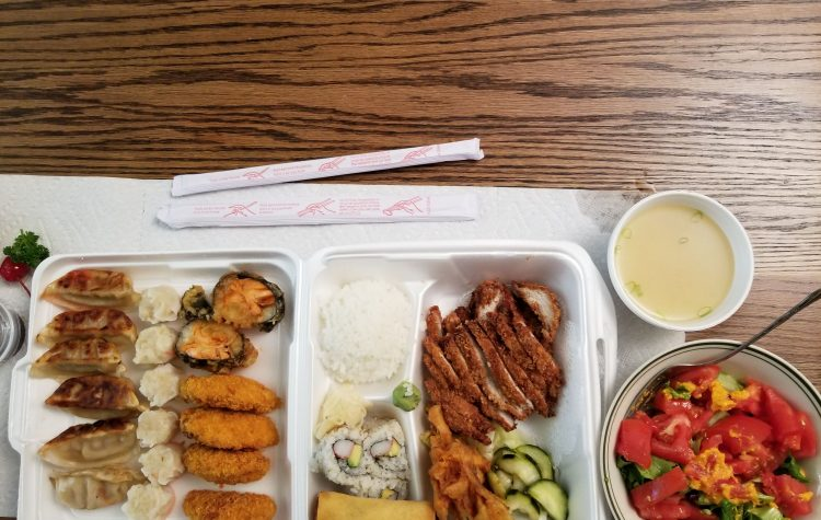 Japanese food tokatsu bento