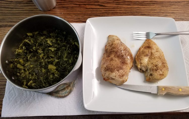 Baked Chicken and Turnip Greens